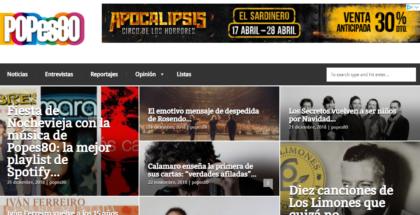 Detalle de la portada del nuevo Popes80.com